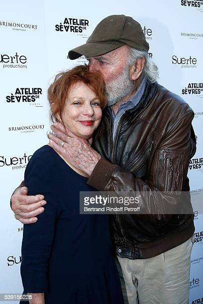Actor JeanPierre Marielle and his wife Agathe Natanson attend the 55 Politiques Exhibition of Stephanie Murat's Pictures Opening Party at Galerie...