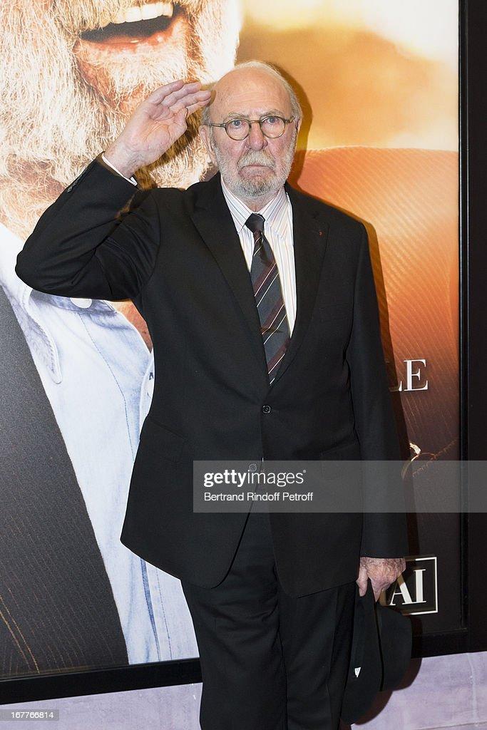 Actor Jean-Pierre Marielle attends the premiere of 'La Fleur De L'Age' at UGC Cine Cite Bercy on April 29, 2013 in Paris, France.
