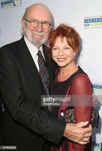 Actor JeanPierre Marielle with his wife actress Agathe Natanson attend the 'IFRAD' Gala at Cirque D'Hiver In Paris on September 25 2013 in Paris...