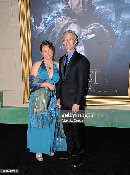 Actor Jed Brophy and wife arrive for Premiere Of New Line Cinema MGM Pictures And Warner Bros Pictures' 'The Hobbit The Battle Of The Five Armies'...