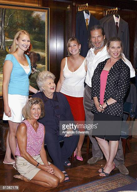 Actor Jeff Bridges and family members Hayley Cindy mother Dorothy Jessica and wife Susan attend a cocktail party celebrating the launch of Bridges'...