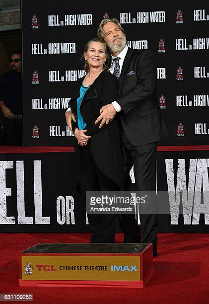 Actor Jeff Bridges and his wife Susan Bridges attend his hand and footprint ceremony at the TCL Chinese 6 Theatres on January 6 2017 in Hollywood...