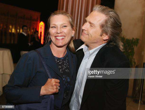 Actor Jeff Bridges and his wife Susan pose at the afterparty for a special screening of Touchstone's 'Stick It' at Loggia on April 17 2006 in Los...