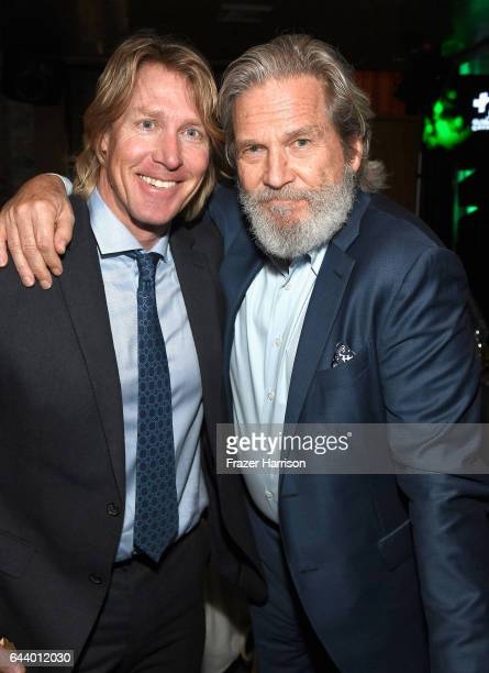 Actor Jeff Bridges and honoree Douglas Stoup attend the 14th Annual Global Green Pre Oscar Party at TAO Hollywood on February 22 2017 in Los Angeles...