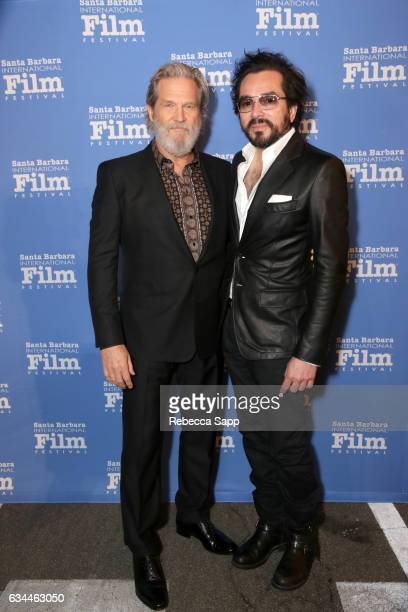 Actor Jeff Bridges and SBIFF Executive Director Roger Durling attend the American Riviera Award honoring Jeff Bridges at the Arlington Theatre on...