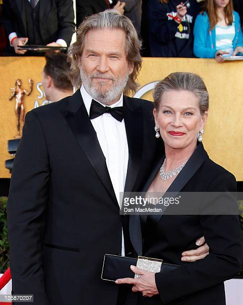 Actor Jeff Bridges and Susan Bridges arrive at the 17th Annual Screen Actors Guild Awards held at The Shrine Auditorium on January 30 2011 in Los...