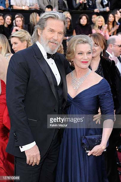 Actor Jeff Bridges and Susan Bridges arrives at the 83rd Annual Academy Awards held at the Kodak Theatre on February 27 2011 in Hollywood California