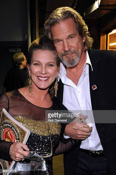 Actor Jeff Bridges and Susan Bridges attend the 52nd Annual GRAMMY Awards held at Staples Center on January 31 2010 in Los Angeles California