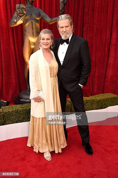 Actor Jeff Bridges and Susan Geston attends The 23rd Annual Screen Actors Guild Awards at The Shrine Auditorium on January 29 2017 in Los Angeles...