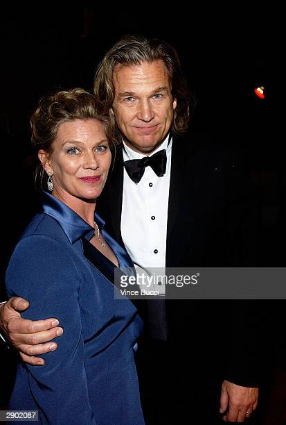 Actor Jeff Bridges and wife Susan attend the UniversalFocus Features afterparty during the 61st Annual Golden Globe Awards on January 25 2004 in...