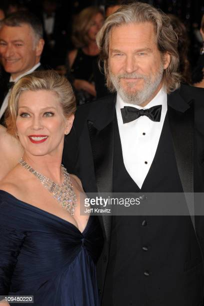 Actor Jeff Bridges and wife Susan Bridges arrive at the 83rd Annual Academy Awards held at the Kodak Theatre on February 27 2011 in Los Angeles...