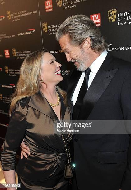 Actor Jeff Bridges and wife Susan Bridges arrives at the BAFTA Los Angeles 2010 Britannia Awards held at the Hyatt Regency Century Plaza on November...