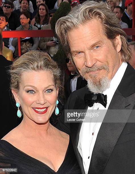 Actor Jeff Bridges and wife Susan Geston arrive at the 82nd Annual Academy Awards held at the Kodak Theatre on March 7 2010 in Hollywood California
