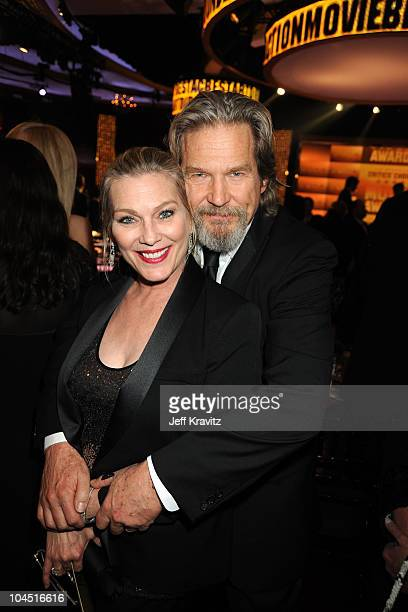 Actor Jeff Bridges and wife Susan Geston attend the 15th Annual Critics' Choice Movie Awards held at the Hollywood Palladium on January 15 2010 in...