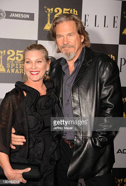 Actor Jeff Bridges and wife Susan Geston attend the 2010 Film Independent's Spirit Awards at Nokia Theatre LA Live on March 5 2010 in Los Angeles...