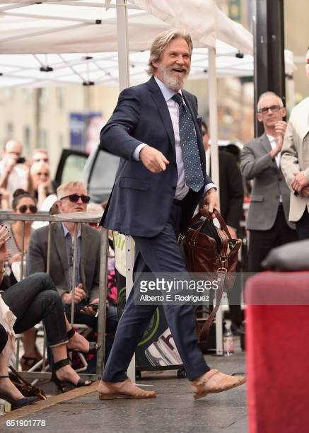 Actor Jeff Bridges attends a ceremony honoring John Goodman with the 2604th Star on The Hollywood Walk of Fame on March 10 2017 in Hollywood...