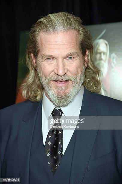 Actor Jeff Bridges attends Seventh Son special screening at Crosby Street Hotel on January 30 2015 in New York City