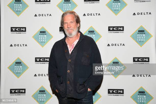 Actor Jeff Bridges attends the screening of 'The Big Lebowski' during day 3 of the 2018 TCM Classic Film Festival on April 28 2018 in Hollywood...