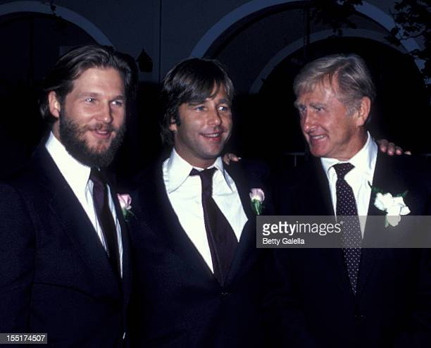 Actor Jeff Bridges Beau Bridges and Lloyd Bridges attend Cindy Bridges Wedding Reception on August 31 1979 at the Bel Air Hotel in Bel Air California
