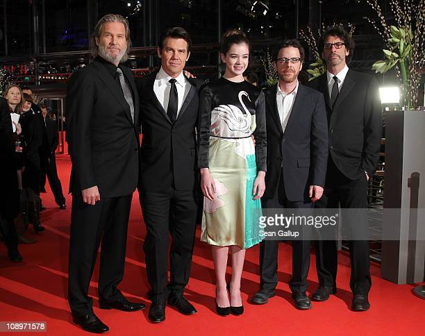 Actor Jeff Bridges Josh Brolin actress Hailee Steinfeld directors Joel and Ethan Coen attend the 'True Grit' Premiere during the opening day of the...
