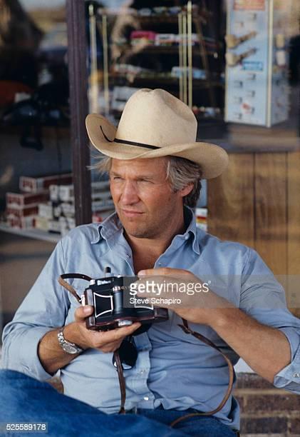 Actor Jeff Bridges on the set of Texasville