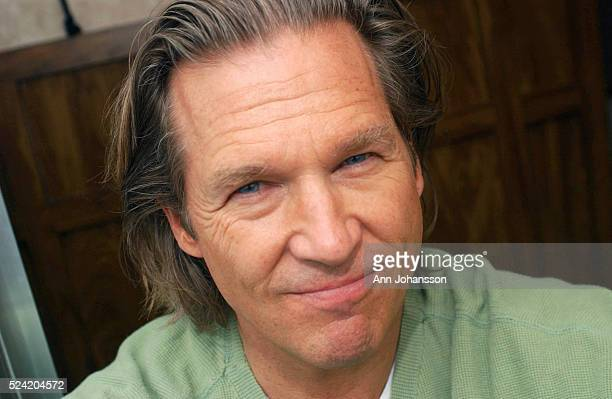Actor Jeff Bridges sits on set at his movie trailer while working on the independent film The Moguls His new movie The Door in the Floor Tod...