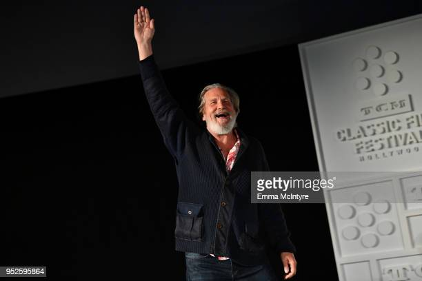 Actor Jeff Bridges speaks onstage at the screening of 'The Big Lebowski' during day 3 of the 2018 TCM Classic Film Festival on April 28 2018 in...