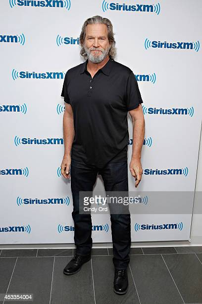 Actor Jeff Bridges visits the SiriusXM Studios on August 8 2014 in New York City