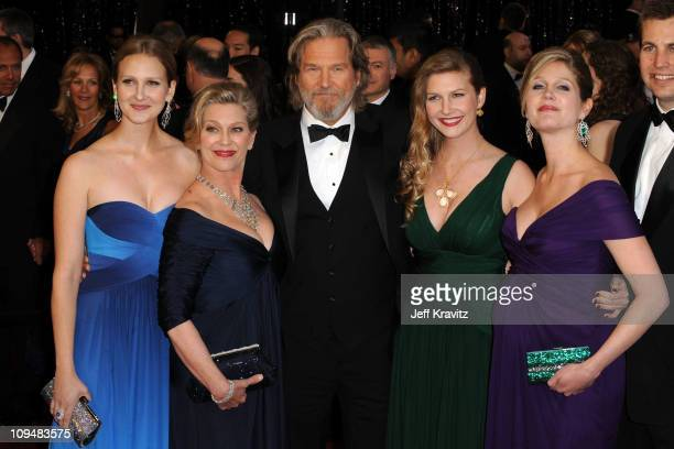 Actor Jeff Bridges wife Susan Bridges and family arrive at the 83rd Annual Academy Awards held at the Kodak Theatre on February 27 2011 in Los...