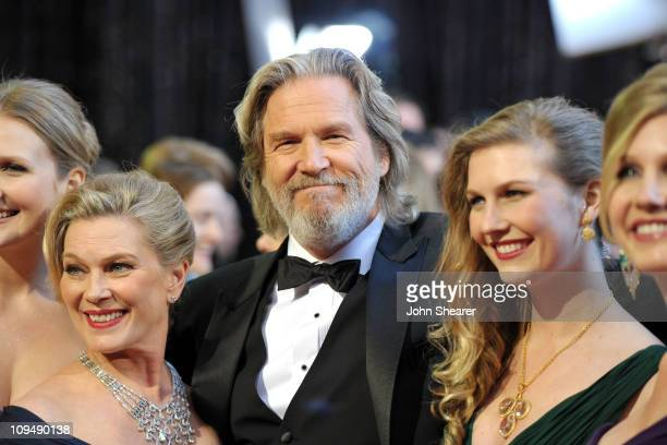 Actor Jeff Bridges wife Susan Bridges and family arrive at the 83rd Annual Academy Awards held at the Kodak Theatre on February 27 2011 in Hollywood...