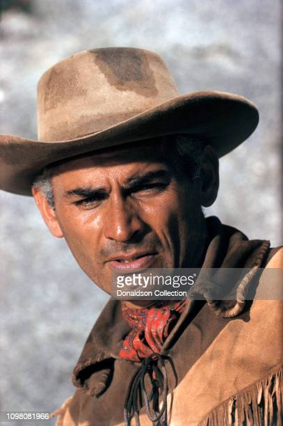 Actor Jeff Chandler on the set of 'Thunder in the Sun' in 1959 in Los Angeles California