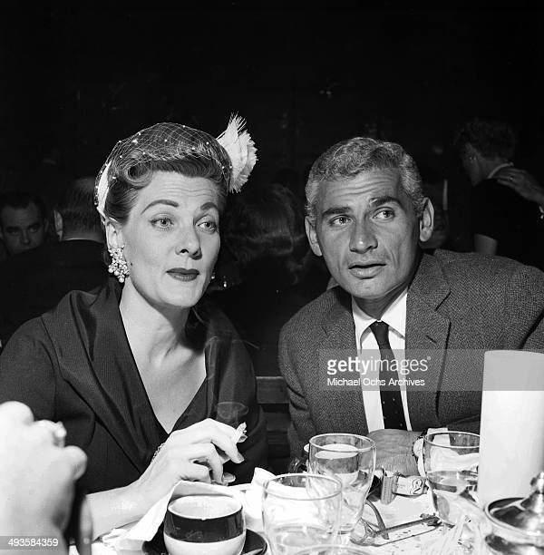 Actor Jeff Chandler with his wife Marjorie attend a dinner in Los Angeles California