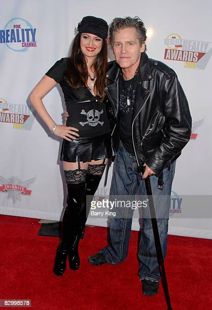 Actor Jeff Conaway and Vikki Lizzi arrive at the Fox Reality Channel's Really Awards held at Avalon Hollywood on September 24 2008 in Hollywood...