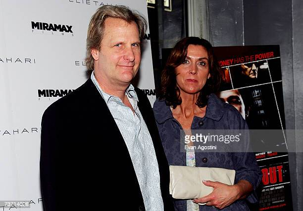 Actor Jeff Daniels and his wife Kathleen Treado attend a screening of The Lookout hosted by Miramax and Elie Tahari at Tribeca Cinemas on March 26...
