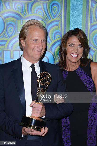 Actor Jeff Daniels and Kathleen Treado arrive at HBO's Annual Primetime Emmy Awards Post Award Reception at The Plaza at the Pacific Design Center on...