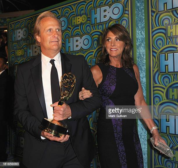 Actor Jeff Daniels and Kathleen Treado attend HBO's Post Emmy Awards party at Pacific Design Center on September 22 2013 in West Hollywood California