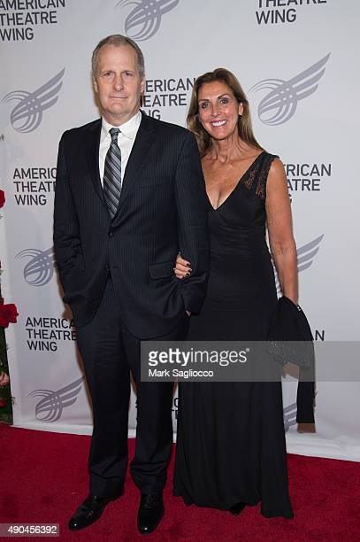 Actor Jeff Daniels and Kathleen Treado attend the 2015 American Theatre Wing's Gala at The Plaza Hotel on September 28 2015 in New York City
