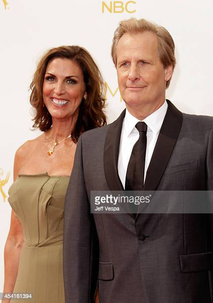 Actor Jeff Daniels and Kathleen Treado attend the 66th Annual Primetime Emmy Awards held at Nokia Theatre LA Live on August 25 2014 in Los Angeles...