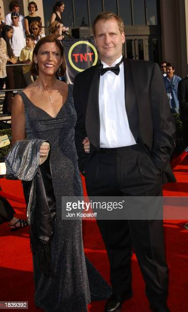 Actor Jeff Daniels and wife Kathleen attend the 9th Annual Screen Actors Guild Awards at the Shrine Auditorium on March 9 2003 in Los Angeles...