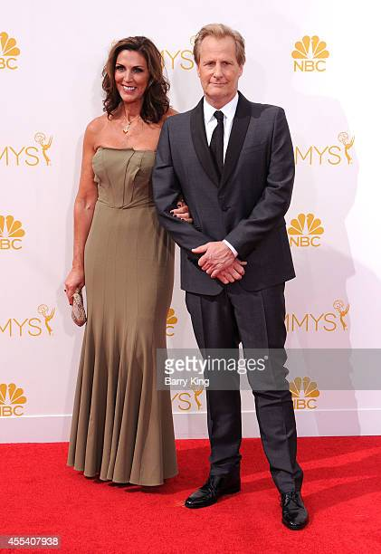 Actor Jeff Daniels and wife Kathleen Rosemary Treado arrive at the 66th Annual Primetime Emmy Awards at Nokia Theatre LA Live on August 25 2014 in...