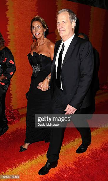 Actor Jeff Daniels and wife Kathleen Rosemary Treado attend HBO's Official 2015 Emmy After Party at The Plaza at the Pacific Design Center on...