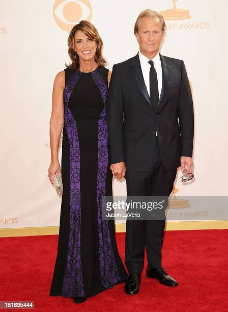 Actor Jeff Daniels and wife Kathleen Rosemary Treado attend the 65th annual Primetime Emmy Awards at Nokia Theatre LA Live on September 22 2013 in...
