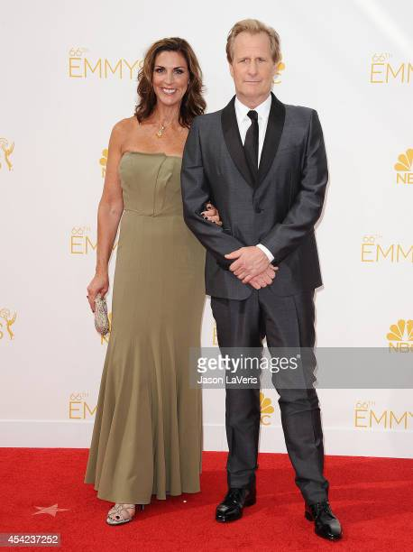Actor Jeff Daniels and wife Kathleen Rosemary Treado attend the 66th annual Primetime Emmy Awards at Nokia Theatre LA Live on August 25 2014 in Los...