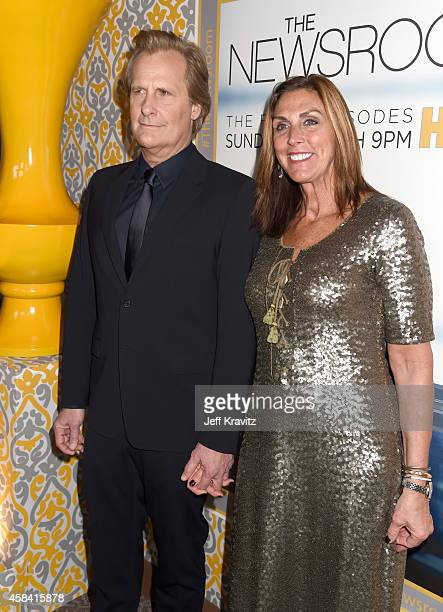 Actor Jeff Daniels and wife Kathleen Rosemary Treado attend the premiere of HBO's The Newsroom Season 3 at the DGA Theater on November 4 2014 in Los...