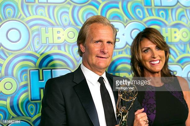 Actor Jeff Daniels and Wife Kathleen Treado arrive at HBO's Annual Primetime Emmy Awards Post Award Reception at The Plaza at the Pacific Design...
