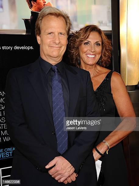 Actor Jeff Daniels and wife Kathleen Treado attend the premiere of HBO's Newsroom at ArcLight Cinemas Cinerama Dome on June 20 2012 in Hollywood...