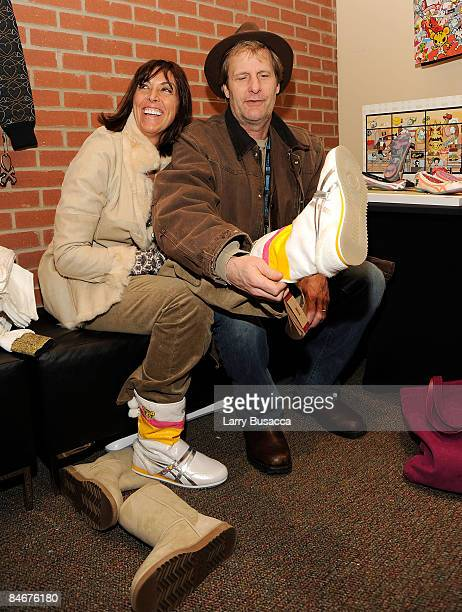 Actor Jeff Daniels and wife Kathleen Treado visit the Hollywood Life House Suite on January 18 2009 in Park City Utah
