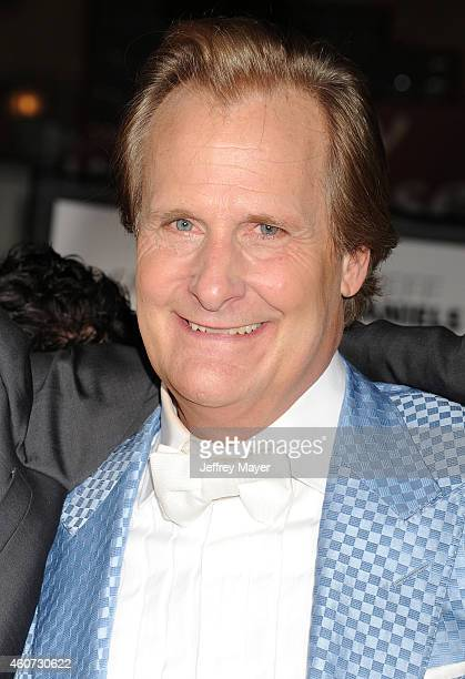 Actor Jeff Daniels arrives at the Los Angeles premiere of 'Dumb And Dumber To' at Regency Village Theatre on November 3 2014 in Westwood California