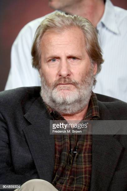Actor Jeff Daniels of 'The Looming Tower' speaks onstage during the Hulu portion of the 2018 Winter Television Critics Association Press Tour at The...