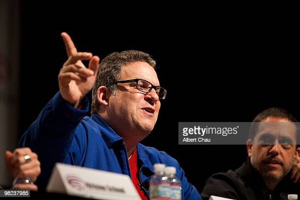 """Actor Jeff Garlin and Director Lee Unkrich attends the """"Toy Story 3"""" panel at the 2010 WonderCon - Day 2 at Moscone Center South on April 3, 2010 in..."""